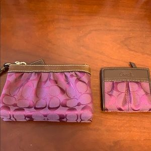 Coach wristlet and wallet !